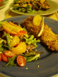 Cashew and Curry Crusted Salmon