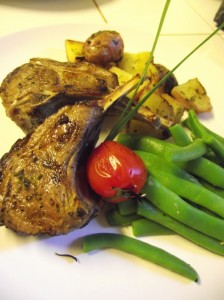 Grilled Lamb chops with Rosemary