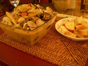 Clams with Fennel and Wine