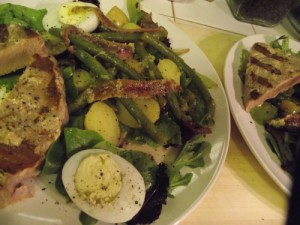 Nicoise Salad with Ahi Tuna Steaks