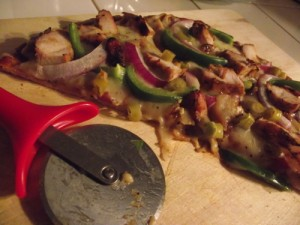 BBQ Chicken Thin Crust Pizza