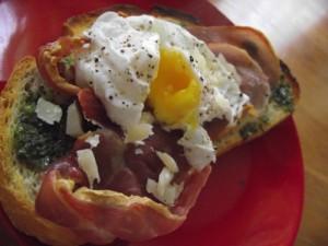 Prosciutto and Basil Breakfast Sandwich