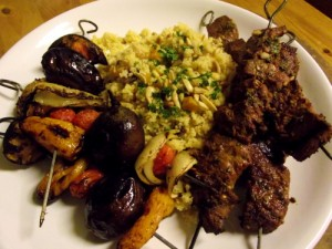 Moroccan Beef Kebabs with Fruit & Nut Cous Cous