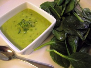 Chilled Cilantro Mint Avocado & Lime Soup