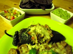 Stuffed Poblano Peppers - Chili Relleno