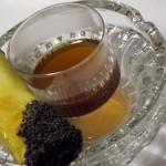 Braised Beef Cigar w/ single malt scotch infused consume