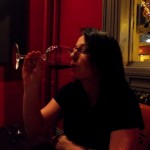Me enjoying a sip