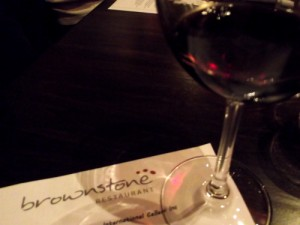 The Brownstone tasting menu & wine