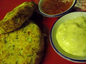 Baked Fish Cakes with Homemade Tartar Sauce